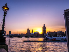 Thames view towards thehouses of parliament sunset (strangesimon) Tags: sunset thames london river cityscape evening trip colours