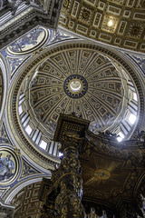Dome of St Peters Basilica Rome 2015 (John Hoadley) Tags: dome stpetersbasilica church rome italy september 2015 canon 7dmarkii 1740 f4