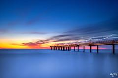 Over sea (nicolamariamietta) Tags: sunset cloudy sea sky seascape pier colors bluhour longexposure marina di pietrasanta versiglia tuscany italy sonya7 nisi nd1000 nisifilter nisiitalia nobody nature travel sunlight horizon mirrorless tripod