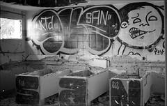 181111_Psiquiatrico_001 (Stefano Sbaccanti) Tags: bw blackandwhite analogicait analogue argentique bianconero leicam5 kentmere400 psiquiatrico asylum urbex urbanexploration abandonado 2018 50summicron spain