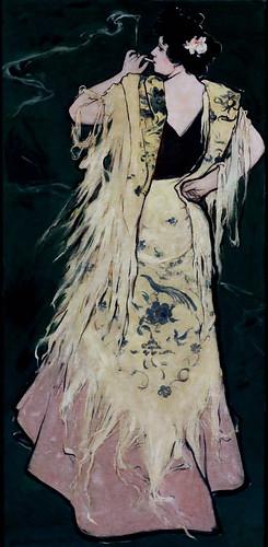 IMG_7922C Julio Romero de Torres 1874-1930  Manola. esquisse pour une publicité Sketch for advertisement  ca 1910 Madrid Musée Reina Sofia