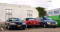 Ford Mustang / Dodge Shadow / Mini Ram Van (Skylark92) Tags: nederland netherlands holland noordholland northholland amsterdam noord north ford mustang 38i v6 automatic pzxx55 1997 onk dodge shadow convertible 25i 78hkfz 1991 mini ram van 1989 vf63kk long 30i