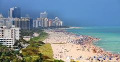 South Beach, Miami (M McBey) Tags: miami florida beach condo houses swimmers coast weather leisure nikon d300s nikon18200mm