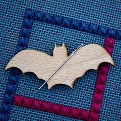 Bat Needleminder (GATACA1952) Tags: needlepoint needlepointer canvaswork dmc kreinik needlework handmade craft homedecor texture countedneedlepoint countedcanvaswork fibre fibreart blue debbierowley debbee'sdesigns neddleminder bat