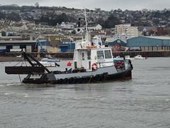 TEIGN C (MMSI: 235082804) THC (Teignmouth Harbour Commission) (guyfogwill) Tags: 2019 backbeach december devon dredger england europe fogwill gb gbr guy guyfogwill january mmsi235082804 mwbm9 nautical river riverteign southwest teignc teignestuary teignmouth teignmouthharbourcommission thc tq14 uk unitedkingdom winter workboat