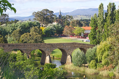 320A0444 Richmond Bridge (Leeds Lad at heart) Tags: bridge church river water landscape tasmania richmond trees