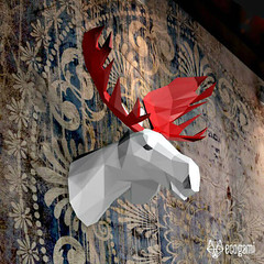 DIY Paper Craft Moose Model (all things paper) Tags: ecogami papertrophy lowpoly papersculpture papercraft papermoose papermodel animalhead diychristmas holidaydecor