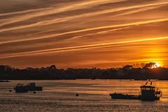 Saint Cado (Mirarmor) Tags: coucher de soleil mer bateaux ombres chinoises bretagne france lumière