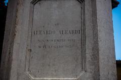 Aleardo Aleardi, 1812-1878. Verona, Italy (R H Kamen) Tags: italy veneto veronaitaly day inscription monument outdoors plinth rhkamen statue westernscript verona