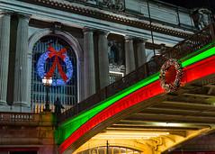 Grand Central Station (mbinebrink) Tags: newyorkcity newyork nyc christmas xmas december sony a7ii tamron grandcentral grandcentralstation lights decorations festive night nighttime wreath wreaths