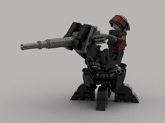 Shade Defense Turret (Laser-Gunner) (demitriusgaouette9991) Tags: lego ldd military army powerful defense turret gunner armored