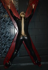 Christmas gift (ajaypenn) Tags: bondage pleasure fun black mature bdsm bum blonde sexy sexual x strapped mother playroom