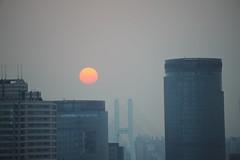 CHINA (gabrielebettelli56) Tags: asia china shanghai sun sunset nikon travel building viaggi