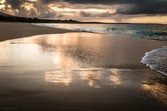 Morning Reflections (Susan.Johnston) Tags: reflections beach makenabeach maui hawaii sunrise