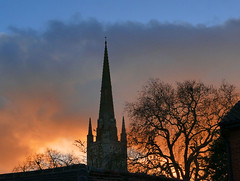 Norwich Cathedral (mira66) Tags: sunset cathedral norwich norfolk spire