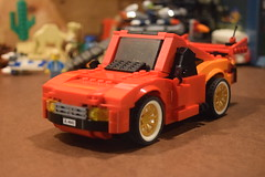 Upgrade Complete! (LegoLyman) Tags: cars lego legolyman set upgrade red lightningmcqueen set8484 stickers rusty movie disney bumper hood engine legocar interior spoiler mirrors addable airintake detailed