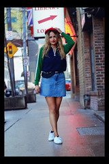 Alexis J (TheJennire) Tags: photography fotografia foto photo canon camera camara colours colores cores light luz young tumblr indie teen adolescentcontent canada toronto 90s retro fashion ootd outfit shoes skirt fannypack beret 2018 blonde girl people portrait blackframes