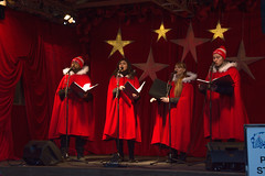 Christmas Carolers (Rackelh) Tags: people person singers singing red christmas market distillery district toronto ontario