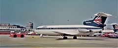 1974 BEA Trident 3 Jetliner Being Towed Off Stand. (ManOfYorkshire) Tags: bea aircraft aeroplane jet jetliner trident3 tridentthree trident stand tow towed offstand airport tug corporation britisheuropeanairways thetamarindseed 1974