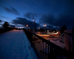 At`night (StoresundPhoto) Tags: night nighttime street streetphoto sky sunset haugesund rogaland longexposure light lines line lights colors color chill contrast cool chilling car city cars blue stars starslighted bridge roadroads road roads norge norway