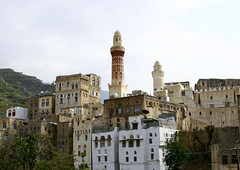 View Of Ibb And Its Mosque, Ibb, Yemen (Eric Lafforgue) Tags: allah ancient arabesque arabia arabiafelix arabianpeninsula architectural architecture belief building colourpicture day faith famousplace grandmosque history holy horizontal housing ibb islam minaret mosque mountain muezzin muslim nopeople outdoors placeofinterest prayer religion still terrace terracefarming tower town traditionalconstruction traditionalhouse travel village yemen img0525