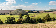 Silbury Hill panorama (Keith in Exeter) Tags: silbury hill avebury wiltshire unesco archaeology neolithic landscape worldheritage english heritage prehistoric grass field farmland tree sky