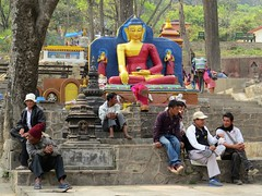 nepal 2013 (gerben more) Tags: swayambunath nepal buddha boeddha religion buddhism statue kathmandu