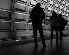 Rosslyn (kyle tsui) Tags: iphone metro wmata iphone7 washingtondc rosslyn blacknwhite