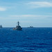 U.S. Navy vessels train together in the Philippine Sea to increase their tactical proficiency