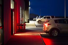 Brake Lights (Mathijs Buijs) Tags: brake lights night blue hour car parking lot iceland canon eos 5d mark mk iii vik
