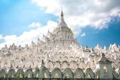 White Pagoda (Laszlo Horvath.) Tags: myanmar burma mingun whitepagoda nikond7100 sigma1835mmf18art buddhism minkun