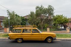 Sunshine West (Westographer) Tags: sunshinewest melbourne australia westernsuburbs suburbia australiansuburbia parked ford fordfalcon stationwagon fordfalconstationwagon yellow