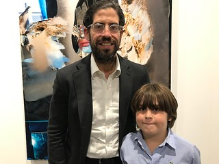Developer and collector David Martin with son David Junior at the Art Basel VIP opening