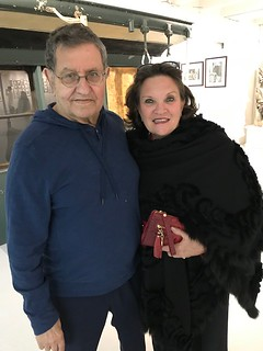 Mega art collector Marty Margulies with Phillis Oeters at the Margulies Collection warehouse in Wynwood