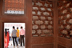 Intricacy Inside (Pedestrian Photographer) Tags: fatehpur sikri india ancient architecture carve carved detail patterned patterns tourists tour outside inside opening door