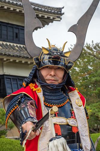 Posing der Samurai – Elitekrieger, Schloss Matsumoto - Japan