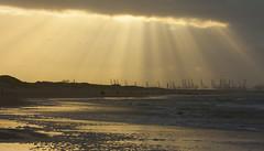 Strand 's-Gravenzande (mariandeneijs) Tags: strand beach sgravenzande slagbeukel zonnestralen zonneharp zee sea hoekvanholland