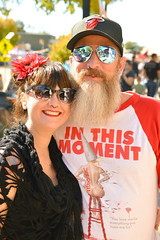 In this moment (radargeek) Tags: dayofthedead plazadistrict okc oklahomacity 2018 october sunglasses smile reflection selfie dunce art tshirt whore inthismoment tattoo
