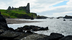 Dunduff Castle (Travis Pictures) Tags: dunure scotland ayshire southayrshire coast seaside clyde firthofclyde doonvalley outdoors sunny clouds sky nikon d5200 photoshop britain uk irishsea westcoast rocks