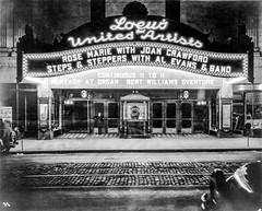 Loew's & United Artists Ohio Theatre, 39 East State Street, Columbus, OH - 03 - Marquee at night - 1928 (kocojim) Tags: photo night neon kocojim loc libraryofcongress building columbus sign marquee ohio oh theatre movietheatre unitedstates us joancrawford