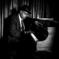 Jazz Man (Jim-Mooney) Tags: bw black white blackwhite blackandwhite musicians music lowlight people portrait fuji fujinon 35mm f2 kansascity jazz square