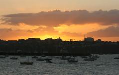 Sunset Over Auckland NZ (philipbouchard) Tags: sunset skyline auckland newzealand harbor boats clouds okahubaywharf