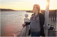 'Da Boat - January '19 (rbatina) Tags: rubbertoe rising sun indiana star casino riverboat hotel vacation road january 27 27th 2019 pretty cute beautiful young woman white expecting pregnant baby bump mommy mother girl chick skinny thin little petite big belly tummy long dark hair face eyes mouth nose lips pose posing amateur model modeling cold winter weather sexy hot babe fully clothed 6 months tight top shirt sweater cardigan curvy boobs curves busty