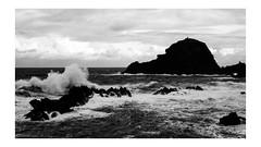 Porto Moniz (AStomatin) Tags: analog film canon canonet sea sky one people travel trip water road