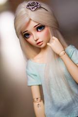 Aurora (aremolana19) Tags: mnf minifee fairyland fl celine alpaca aline msd bjd doll custom