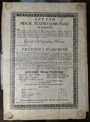 Francesca d'Arimino (Renato Morselli) Tags: manifesto carta paper 1831 teatro bologna silviopellico francescadarimino