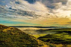 Castleton & Cement works (joshdgeorge7) Tags: macclesfield clouds autumn cold landscape cheshire mist nikon sky blue walk walking