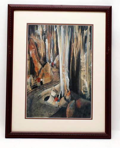 P. Buckley Moss limited edition framed print of Luray Caverns in Luray, VA. ($291.20)