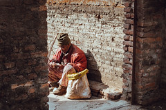 Counting Rupees (danielhibell) Tags: kathmandu nepal travel asia discover explore world street streetphotography people religion culture ambience mood buddhism hinduism colour light praying moving special