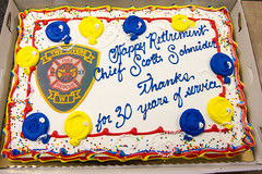 Cake (Lester Public Library) Tags: tworiverswisconsin tworivers tworiversfiredepartment scottschneider firechiefscottschneider retirementparty retirement firedepartment lesterpubliclibrarytworiverswisconsin readdiscoverconnectenrich